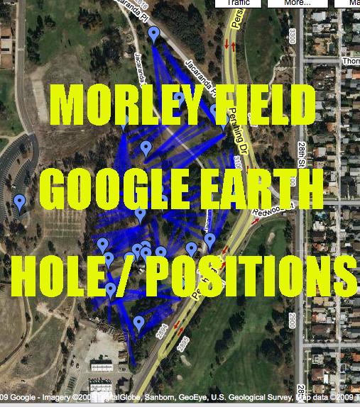 Morley Field Google Earth Map Morley Field Disc Golf Course